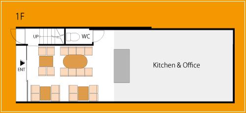 けむり屋&フラワー1階フロアマップ