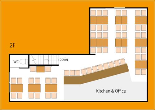 けむり屋&フラワー2階フロアマップ